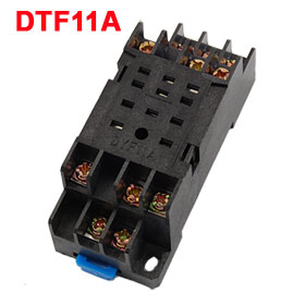 Replaceable DIN Rail Mounting 10 Terminals Relay Socket Holder