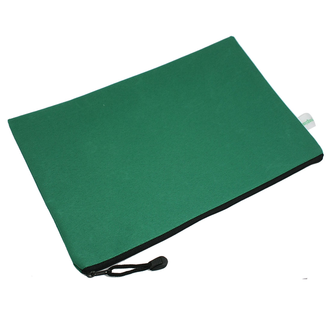A4 Green Nylon Hand Strap Design Paper Organizer Files Bag