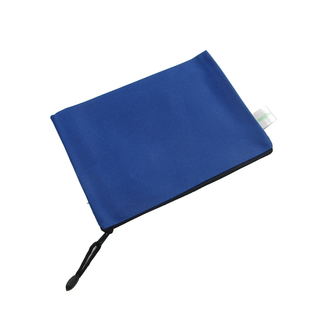 A5 Paper Blue Nylon Plastic Zipper File Doucument Paper Bag 12 Pcs