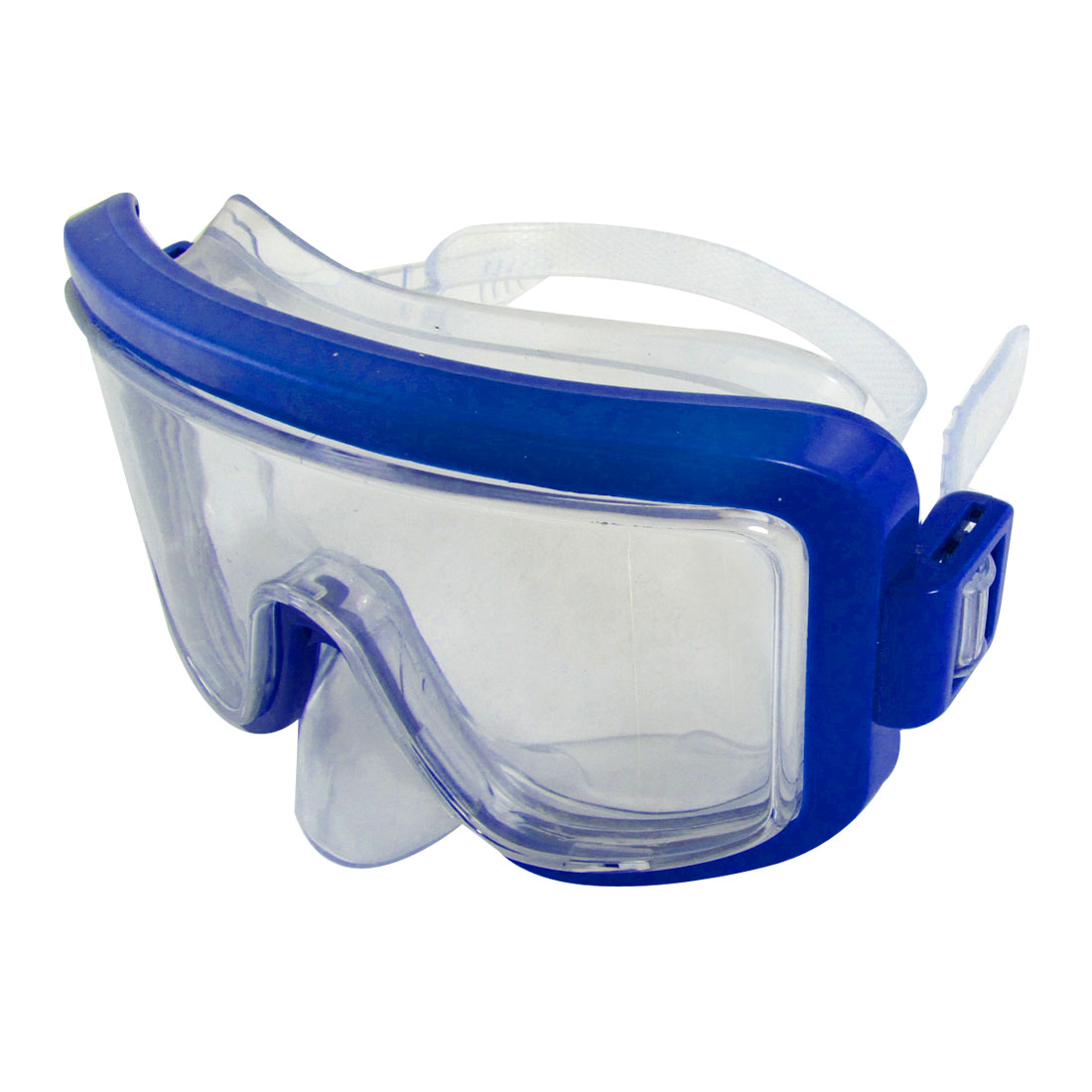 Adults Blue Frame Adjustable Headstrap Swimming Diving Goggles