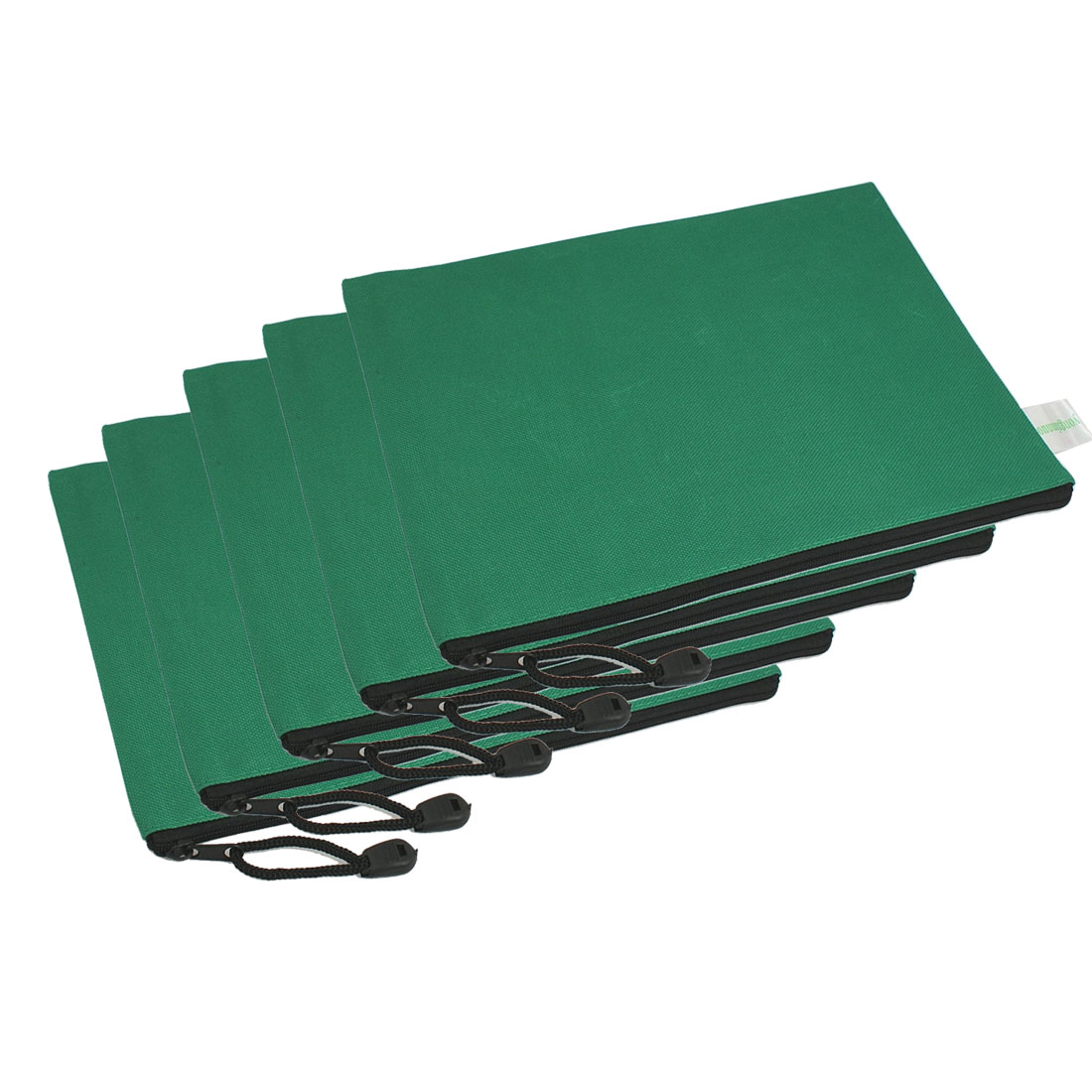 12 Pcs B5 Green Nylon Note Paper Zippered Bag w Hand Strap