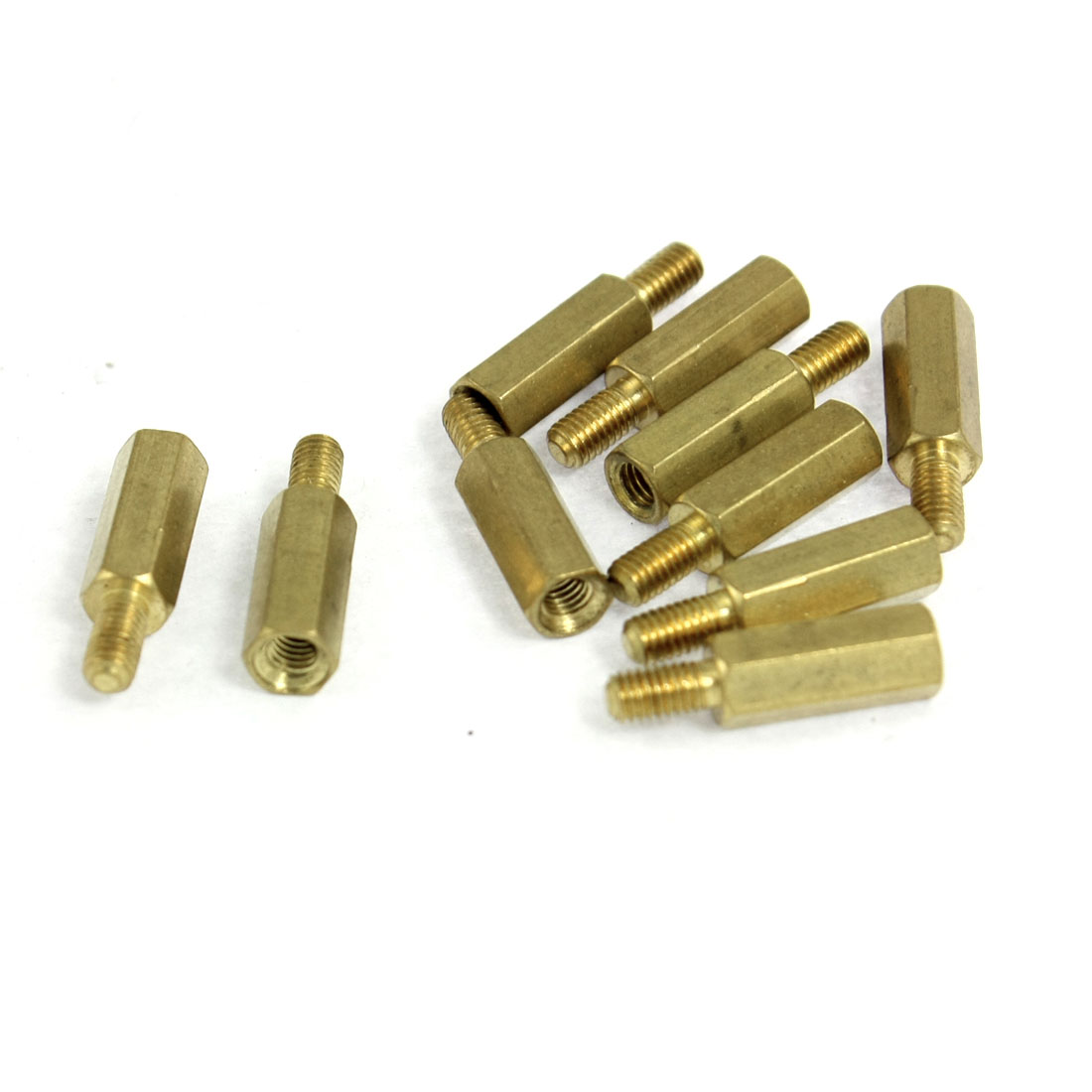 10 Pcs Brass PCB Standoffs Hexagonal Spacers 2.8mm Male x 2.6mm Female