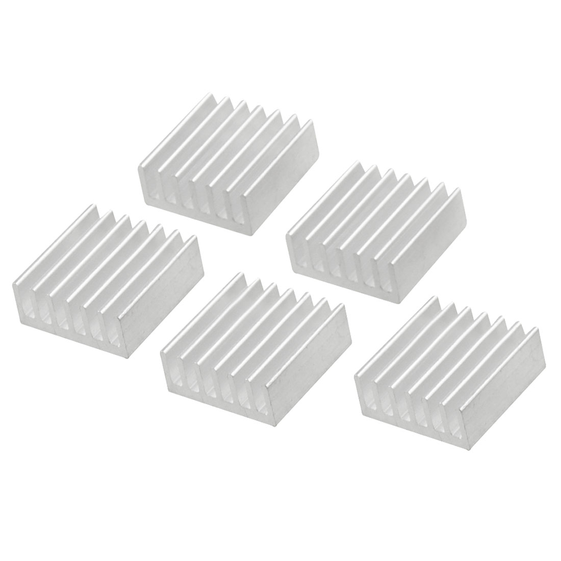 5 Pcs 15x15x6mm Aluminium Heatsink Heat Transfer Cooling Fin