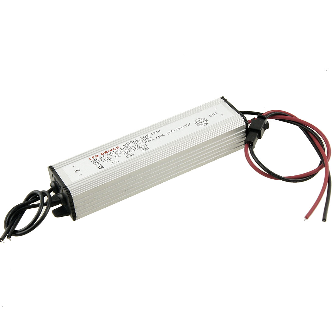 AC 110-220V DC 43-63V 310mA Driver Power Supply for (15-18)x1W LED Striplight