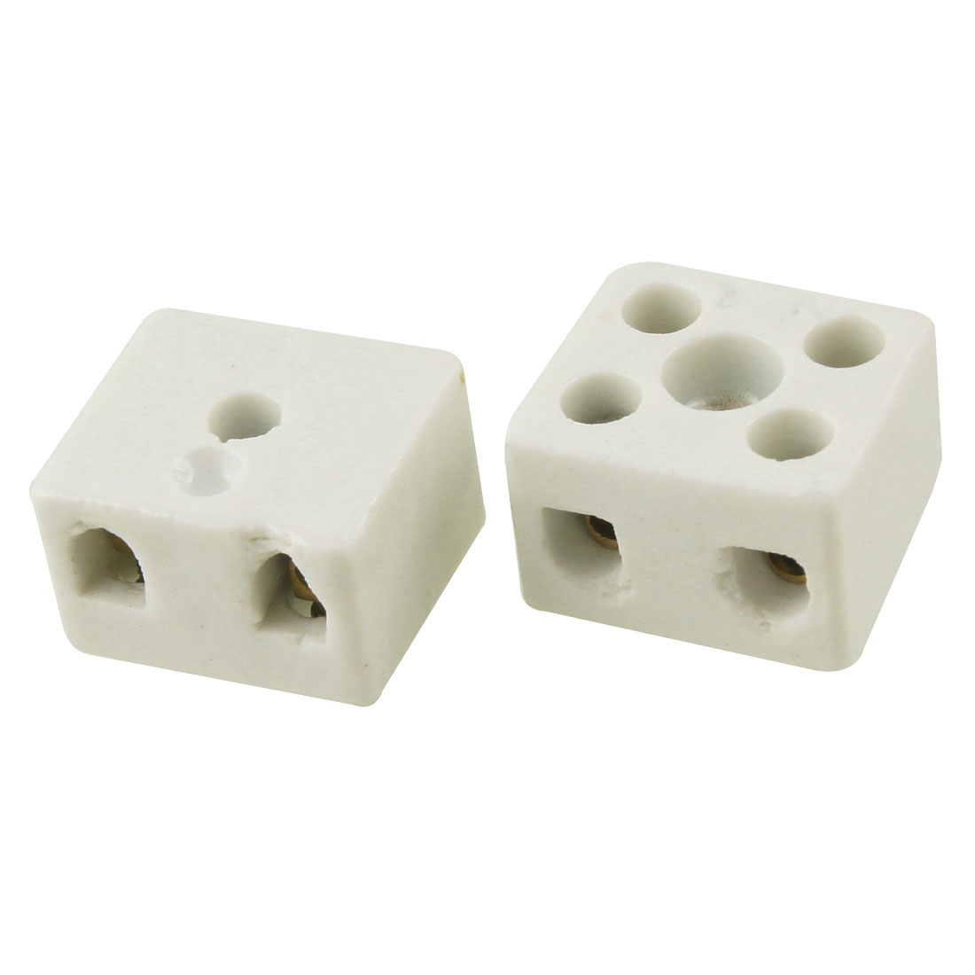 2 Pcs Wire Connector 2 Position Dual Row Ceramic Terminal Block 16A