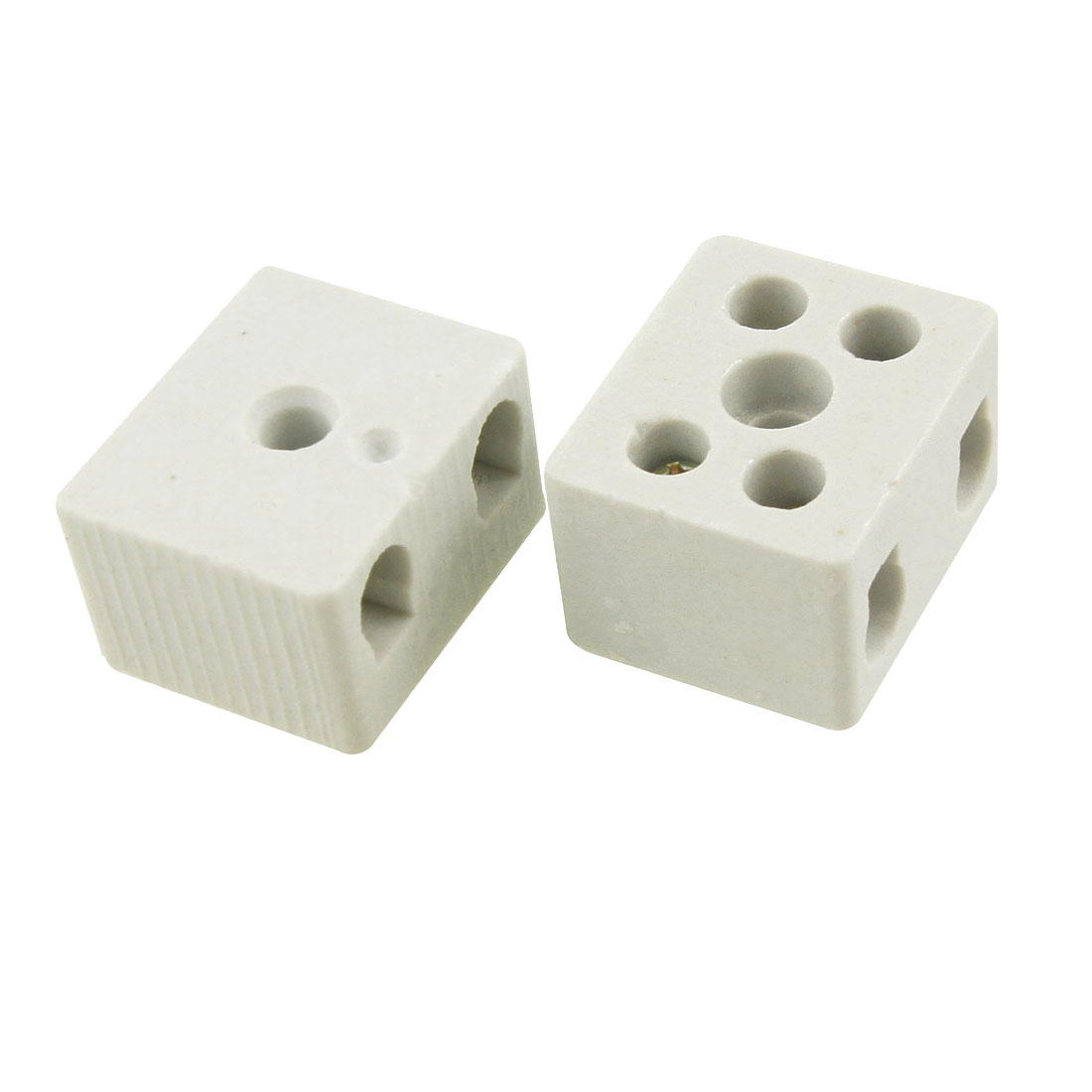 2 Pcs Wire Connector 2 Position Dual Row Ceramic Terminal Block 20A