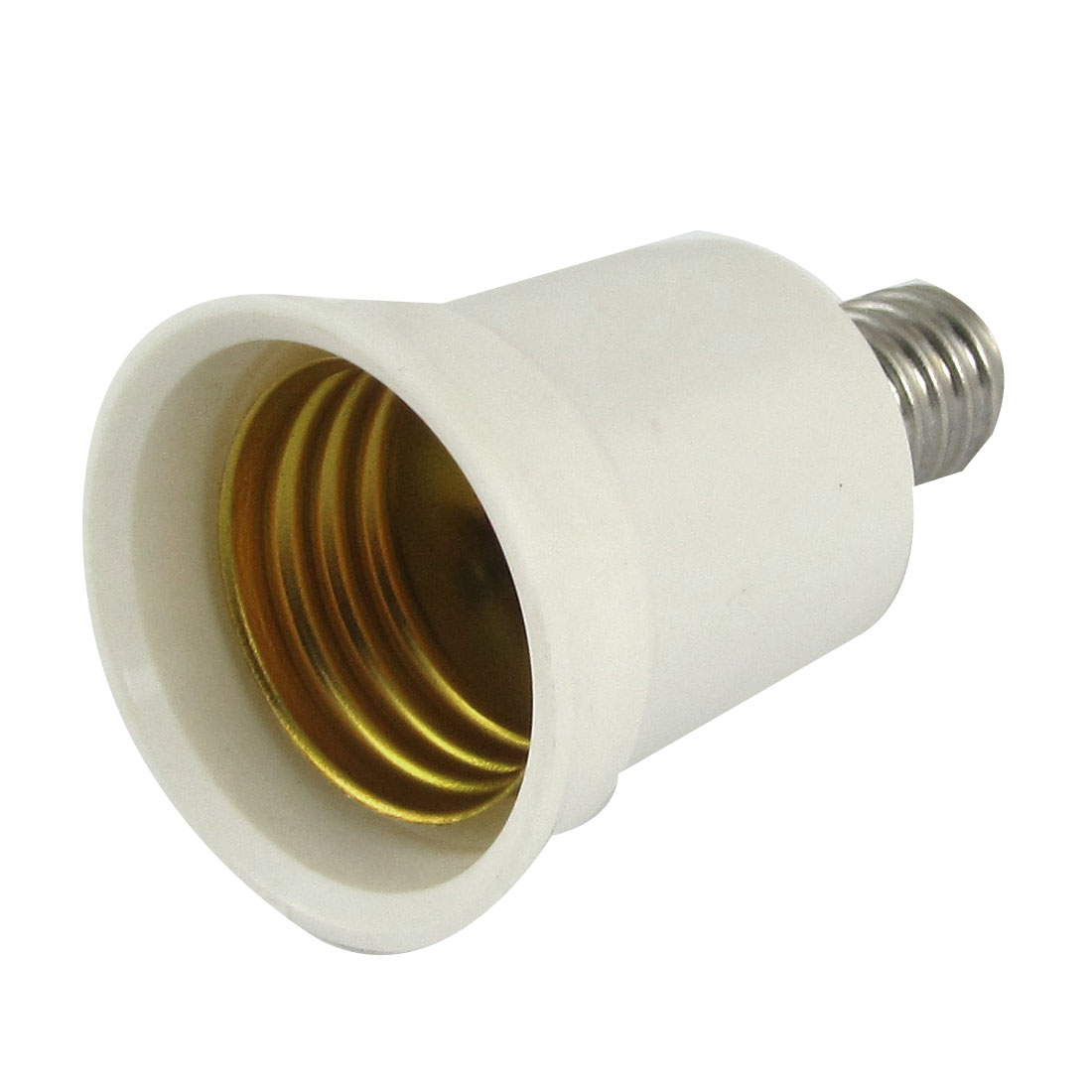 E27 to E14 Light Lamp Bulb Socket Adapter Convertor White