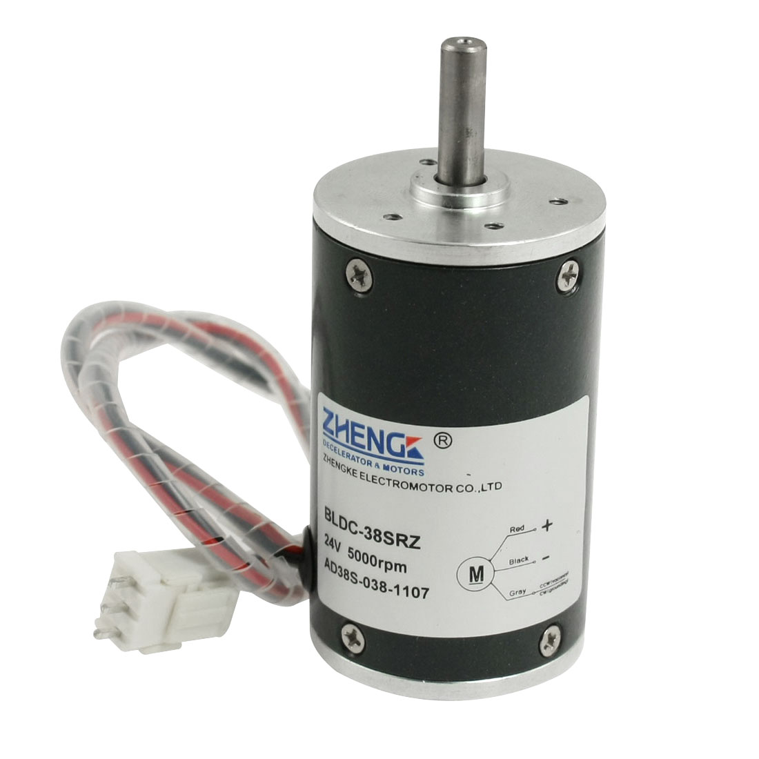 5000RPM Speed 38mm Diameter Brushless Motor DC 24V