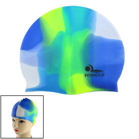 Men Women Colorful Flexible Silicone Swim Swimming Cap Hat