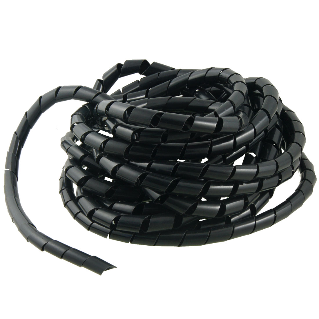 12mm Outside Dia 8M Polyethylene Spiral Wire Wrap Desktop PC Manage Cable