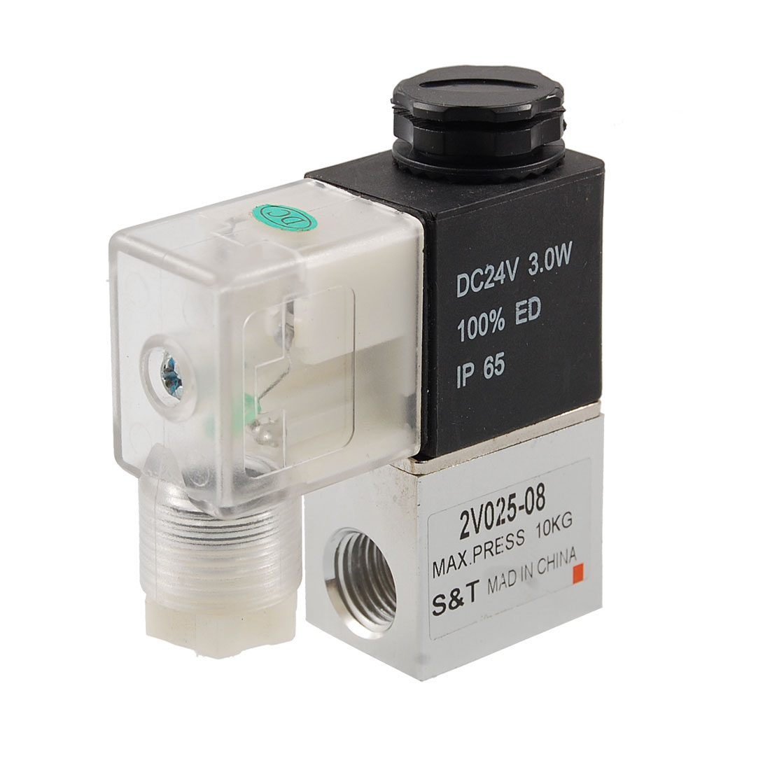 2V025-08 DC 24V 3 Watt 2 Position 2 Way Pneumatic Solenoid Valve