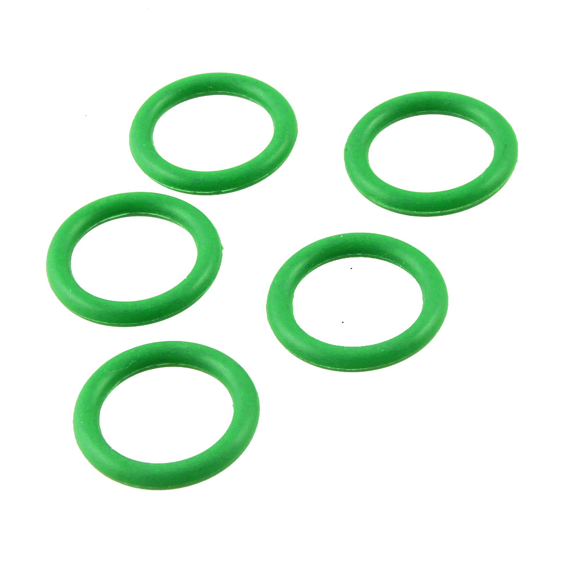 Mechanical Green Rubber O Ring Oil Seal Gaskets 21mm Outside Dia. 5 Pcs