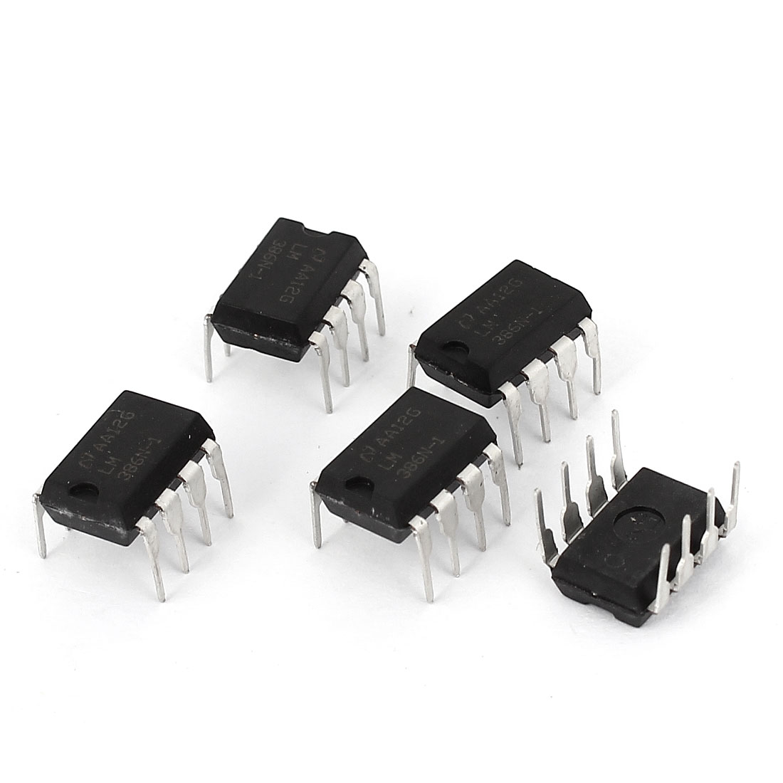 5 Pcs 8 Pins MSOP Package DIP IC LM386N-1 for AM-FM Radio Amplifiers