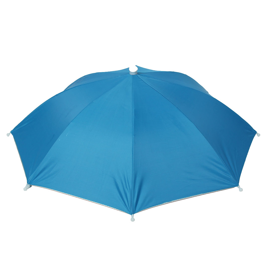 Light Blue Polyester Hands Free Fishing Beach Umbrella Hat
