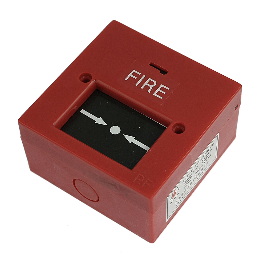 Red Plastic Square Manual Call Point Fire Alarm Button