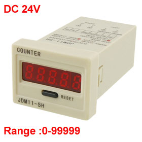 Reset Panel Mode 5-Digit LED Display Electric Counter DC 24V