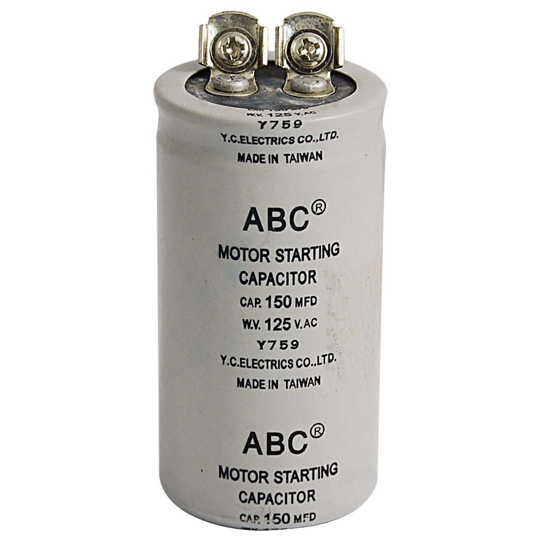 AC 125V 150uF 150MFD 2 Terminals Motor Start-up Capacitor