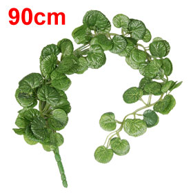 90cm Green Emulational Leaf Hanging Fabric Vine Ornament for Home