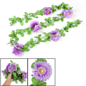 Floral Decor Artificial Purple Diasy Gerbera Flower Hanging Bouquet Ornament