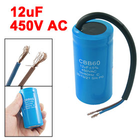 Washing Machine CBB60 12uF 5% 50/60Hz 450V AC Motor Start Capacitor