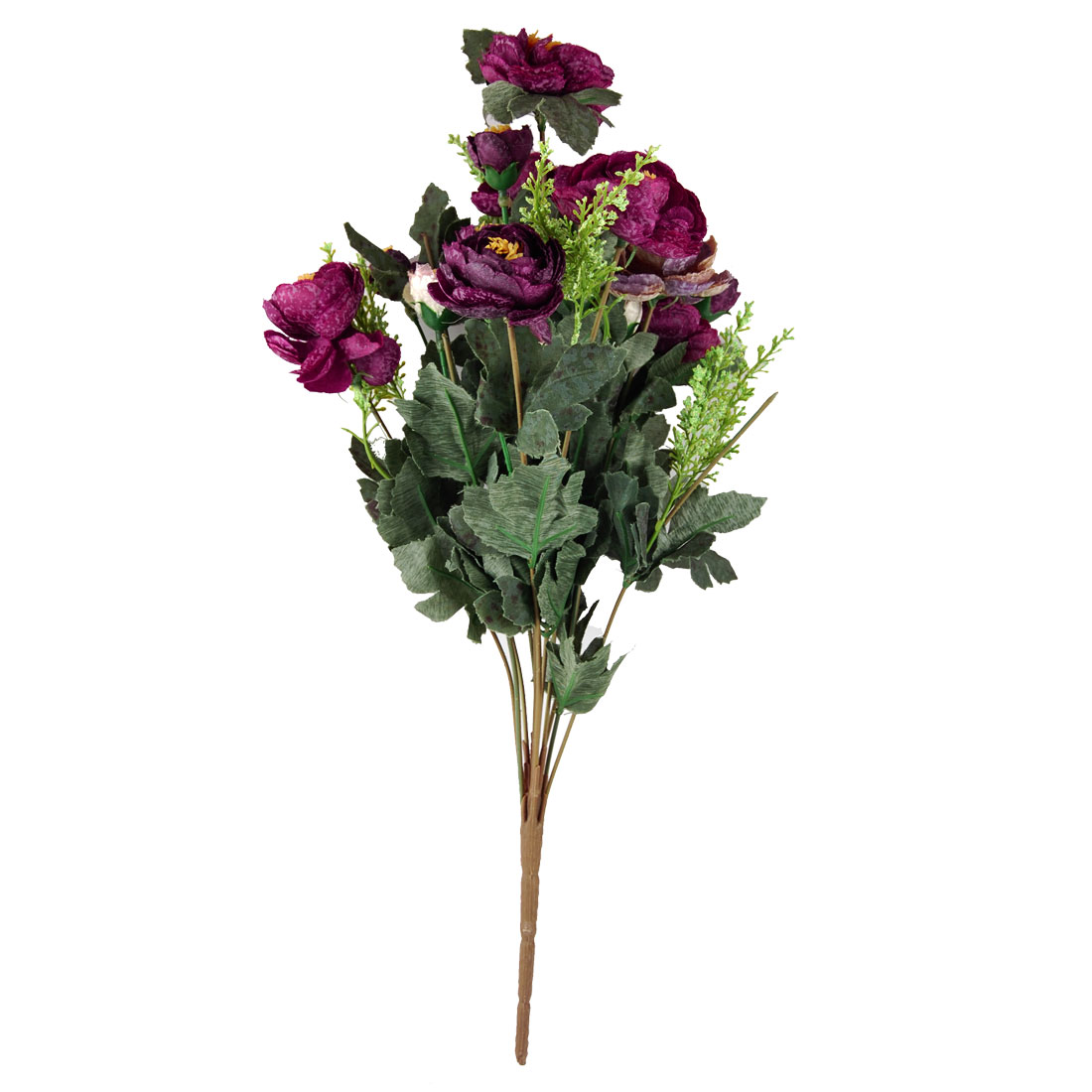 Blooming Artificial 11 Burgundy Camellia Flower Home Decor Wedding Bouquet