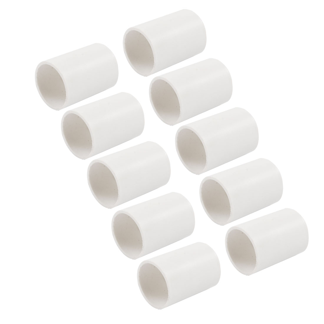 10 Pcs 25mm Inner Dia PVC Straight Pipe Connectors Fittings White