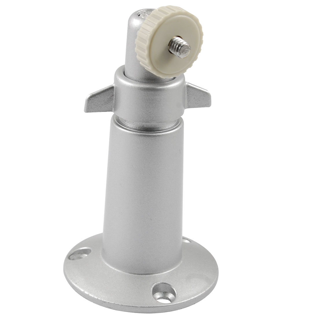1/4 Inch Thread Metal CCTV Security Camera Holder Wall Mount Bracket Silver Tone