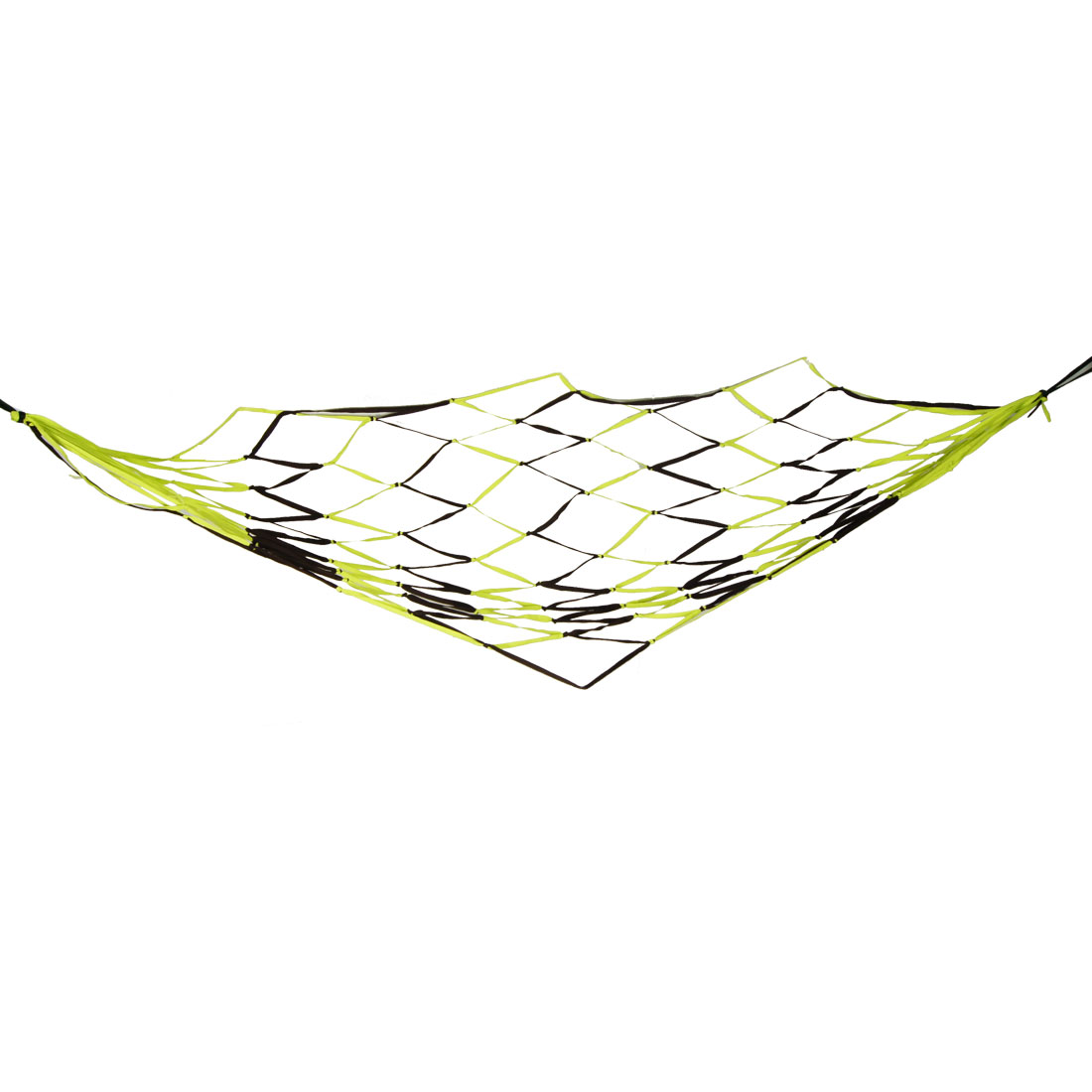"71"" x 40"" Yellowgreen Coffee Color Nylon Hammock Mesh Net Sleeping Bed"