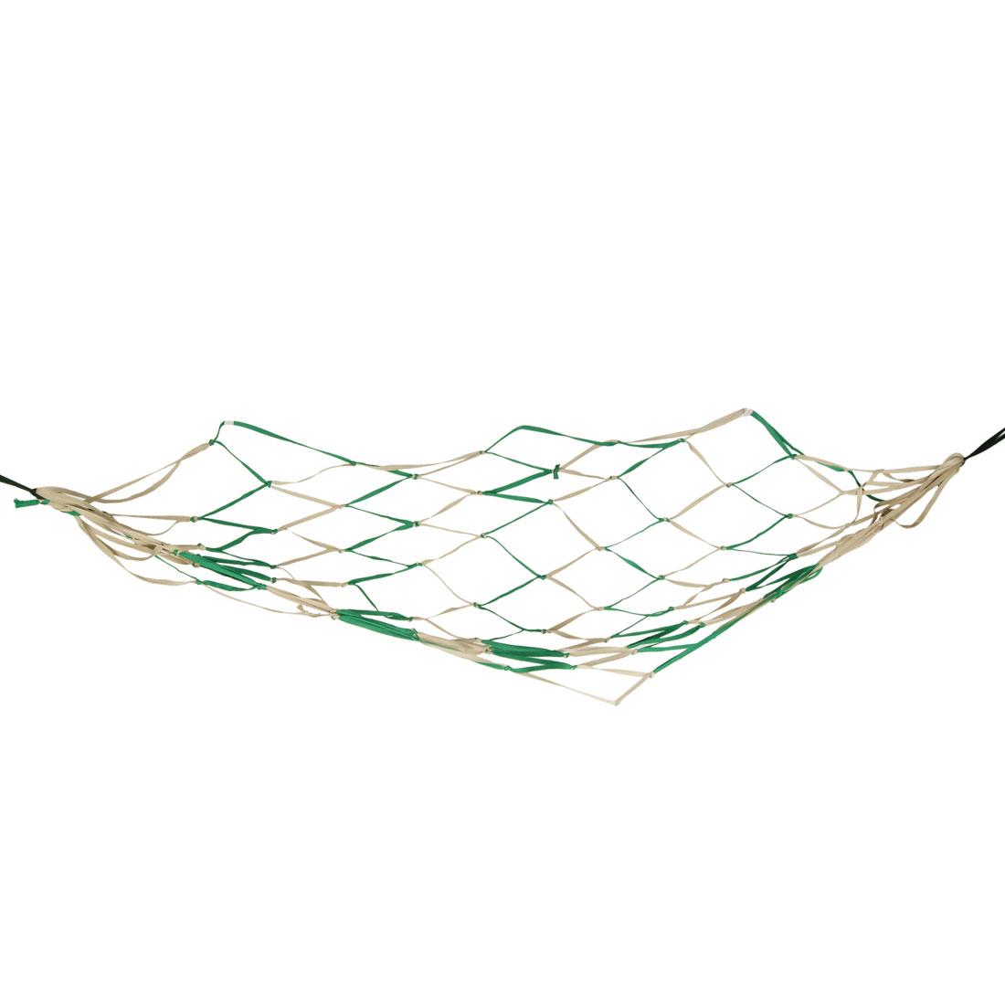 "79"" x 43"" Khaki Green Nylon Hammock Mesh Net Sleeping Bed for Traveling Camping"