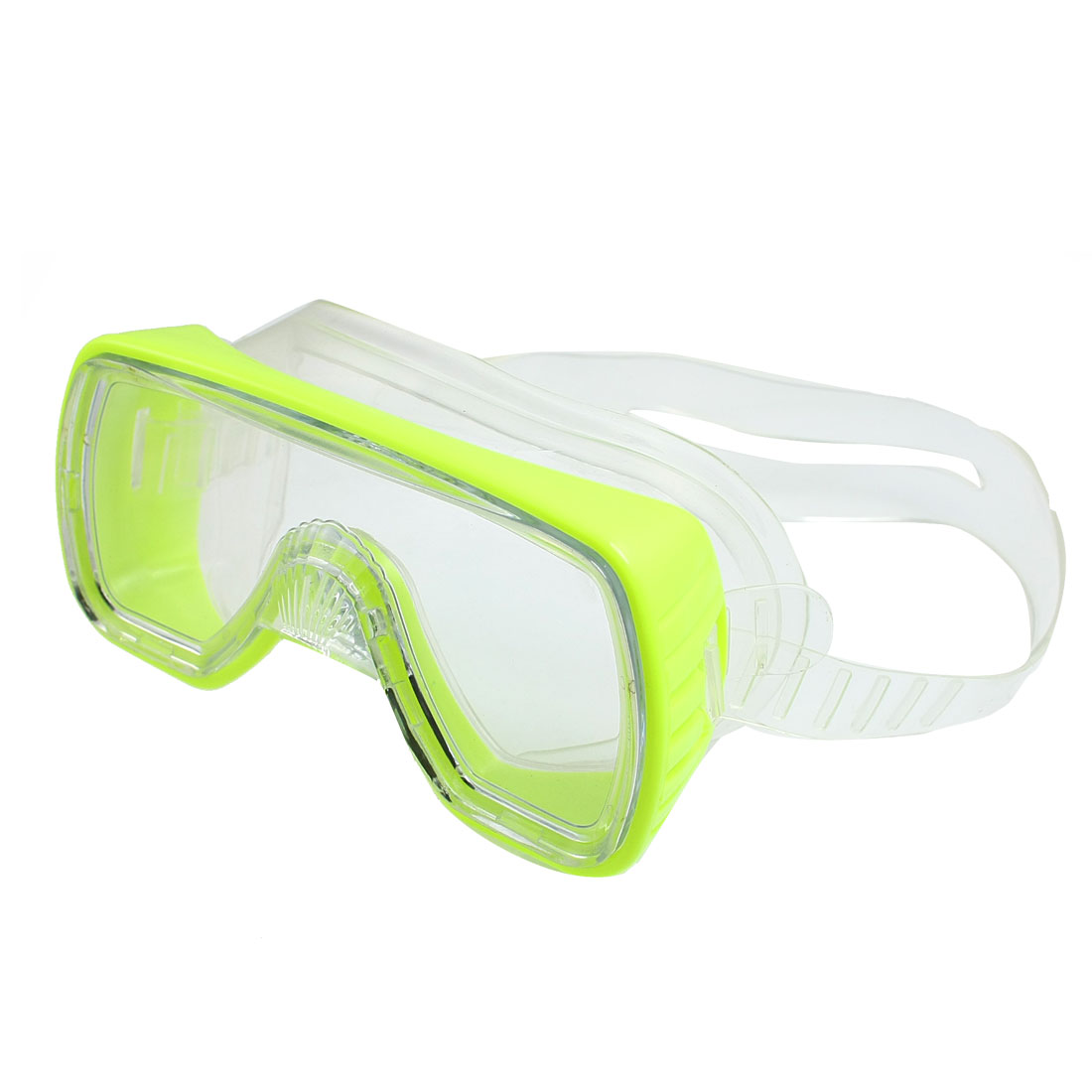 Tempered Glass Lens Swimming Diving Snorkel Goggles Glasses Yellow Green