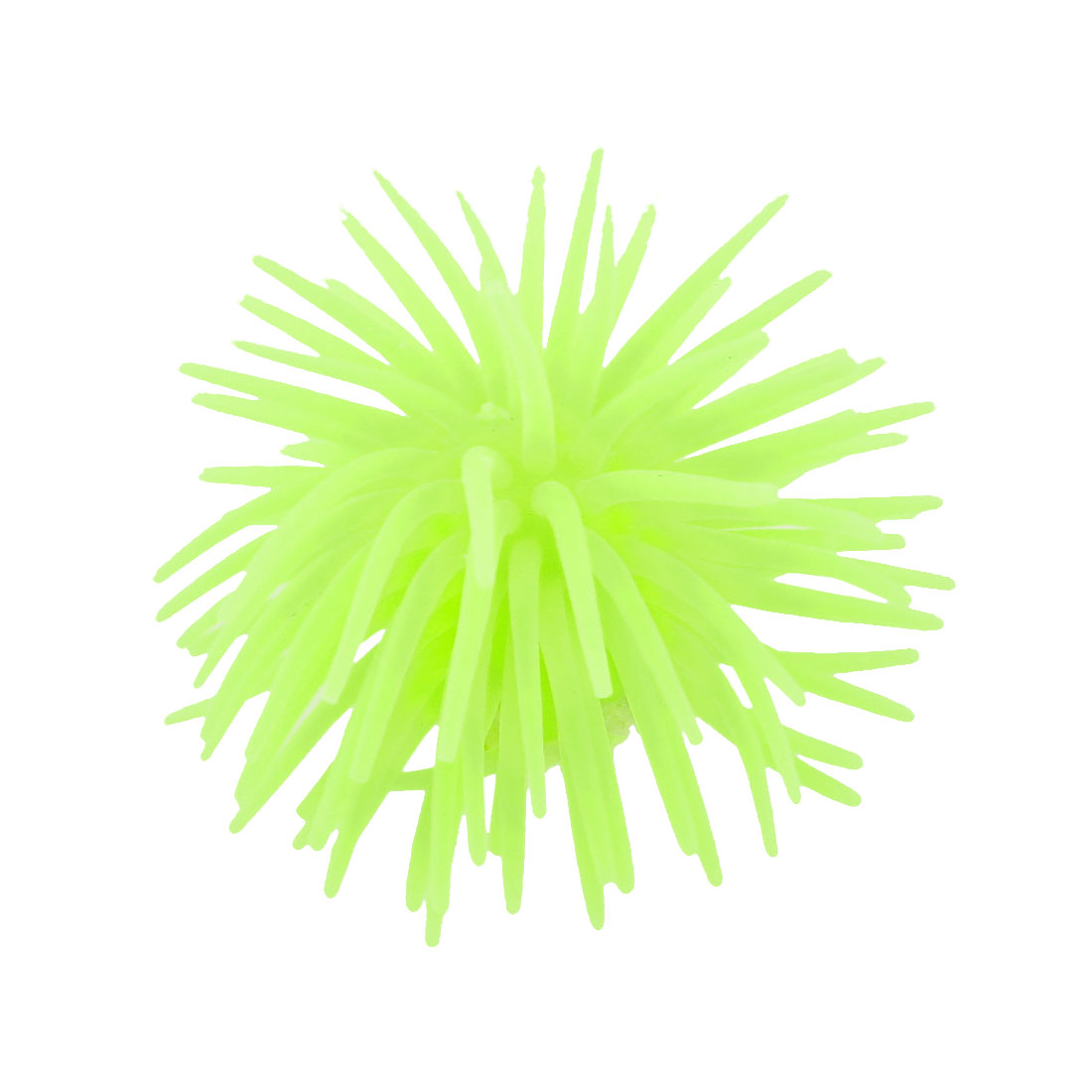 Yellow Artificial Silicone Manmade Coral Shaped Decor for Fish Tank