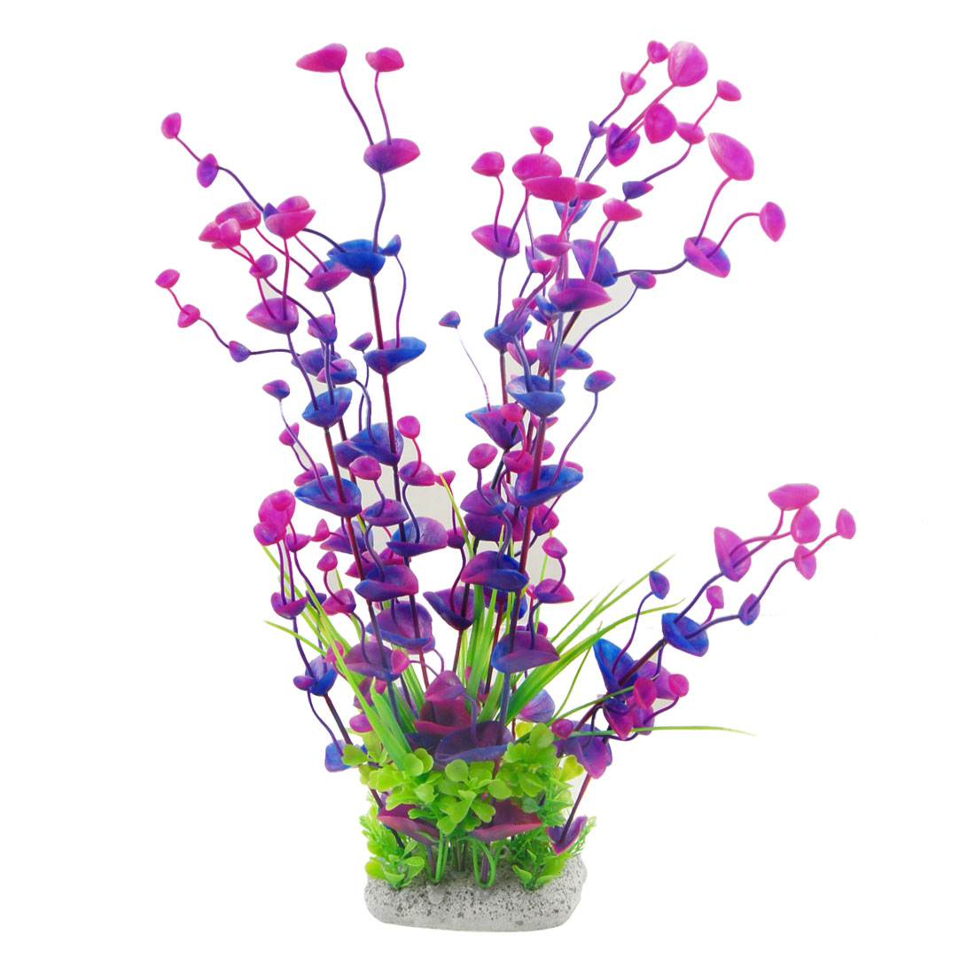 "Fish Tank 15.3"" Emulational Water Plant Decor Purple Blue"