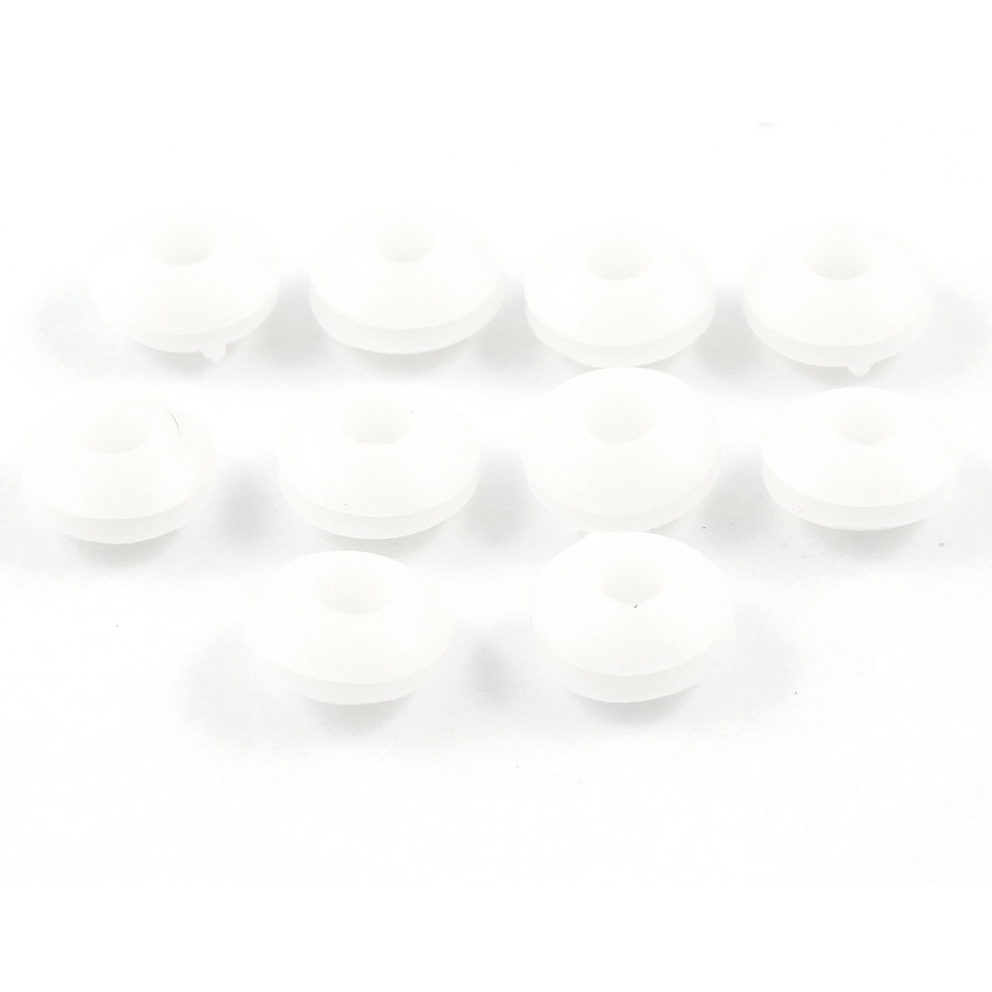10 Pcs Wire Protector 3mm Inner Diameter Armature Rubber Grommets White