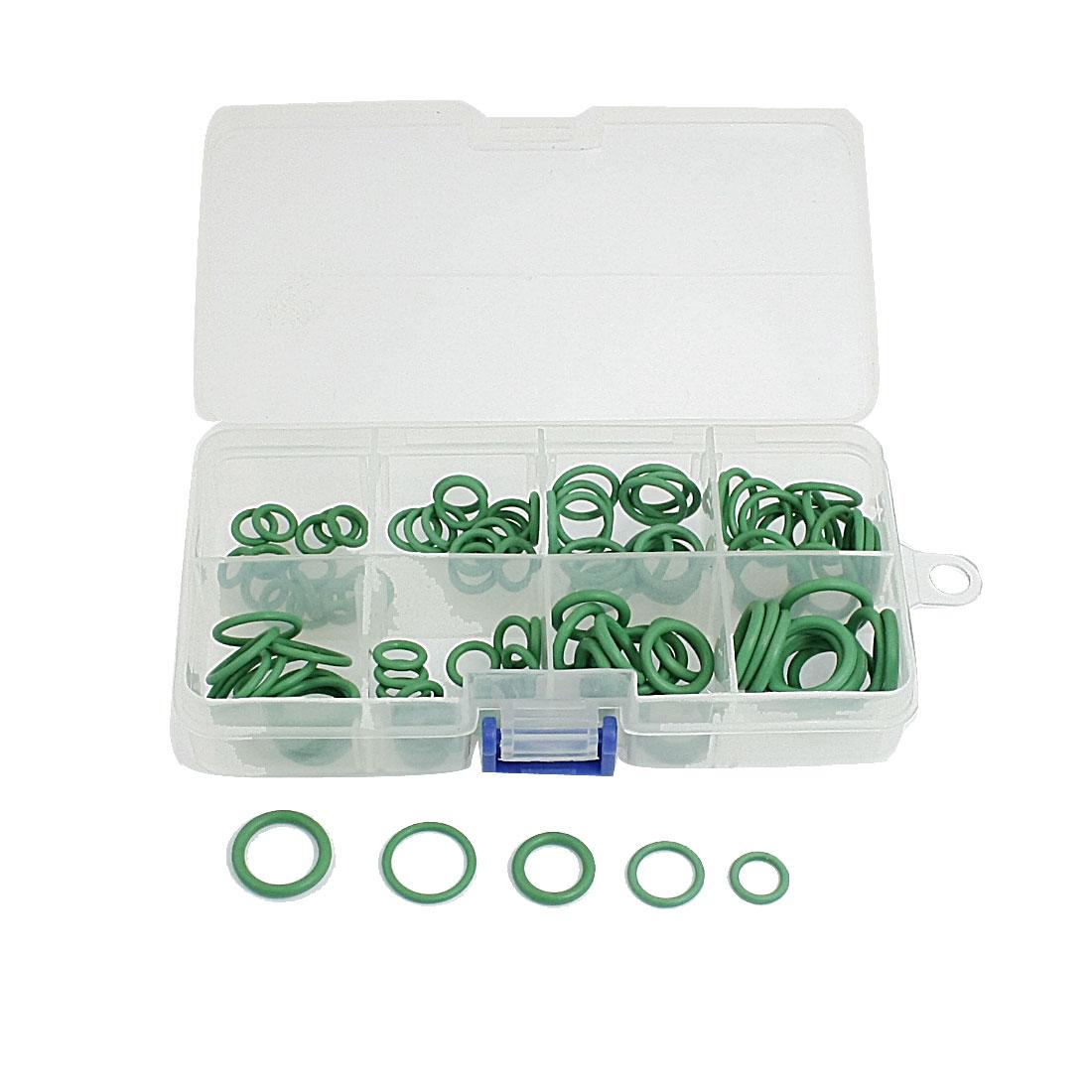 120 Pcs F12 R134a HNBR A/C O Ring Assortment Green Rapid Seal