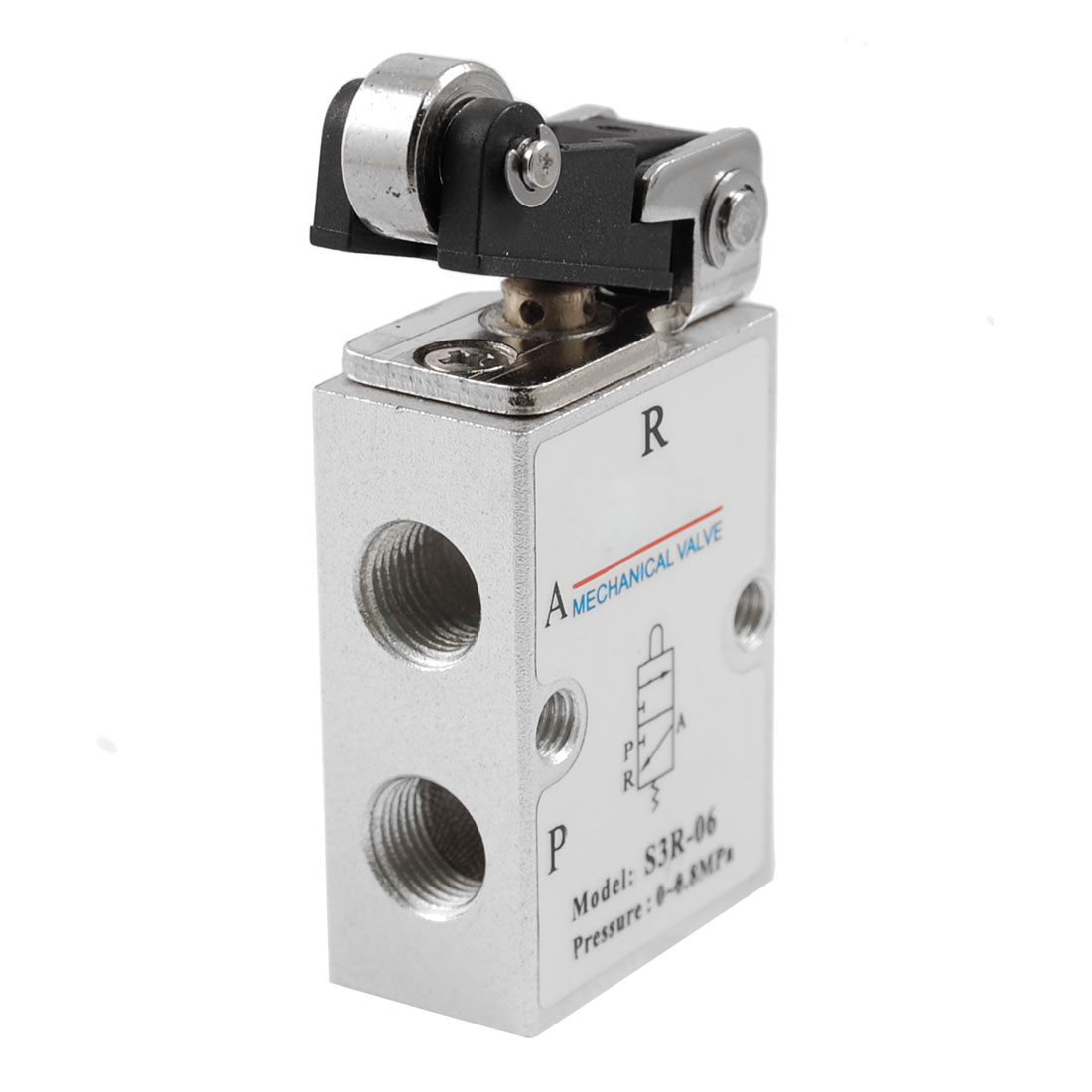 Roller Cam 2 Position 3 Way Pneumatic Air Mechanical Valve S3R-06