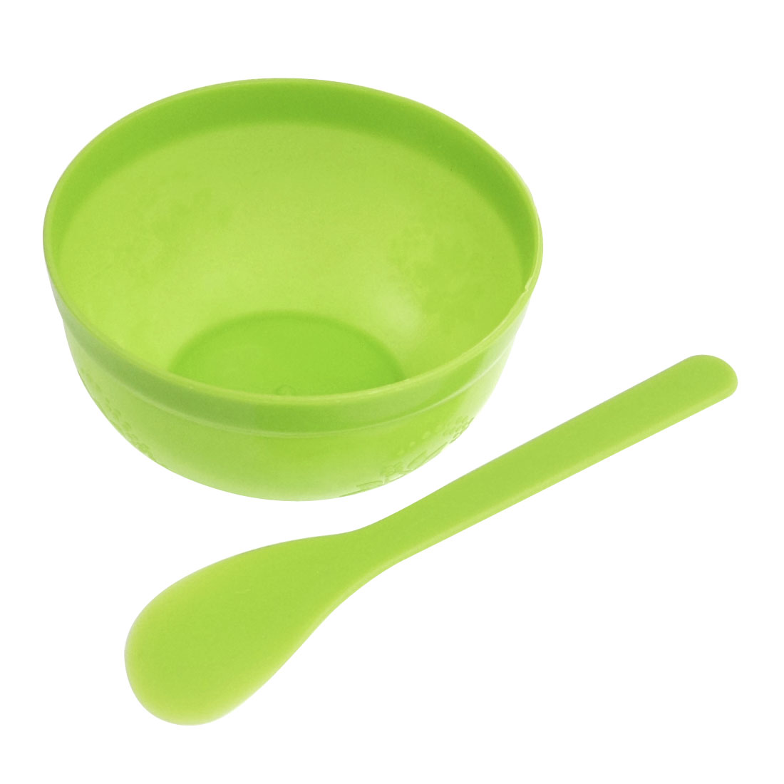 Cosmetic Facial Face Skin Care Plastic Mask Bowl Stick Set Green
