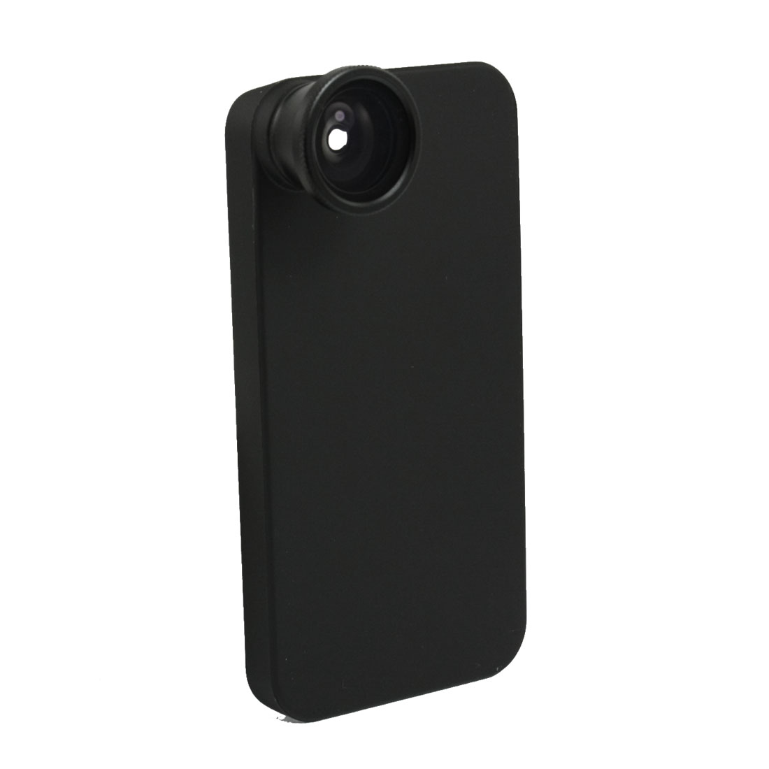 Black 0.5X Optical Telephone Camera Fisheye Lens w Back Case for iPhone 4 4G 4S 4GS