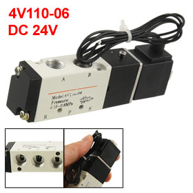 DC 24V 2 Position 5 Way Inner Guide Type Air Solenoid Valve