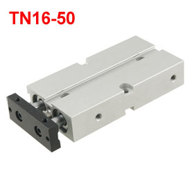 Dual Acting 16mm Bore 50mm Stroke Double Rod Pneumatic Air Cylinder
