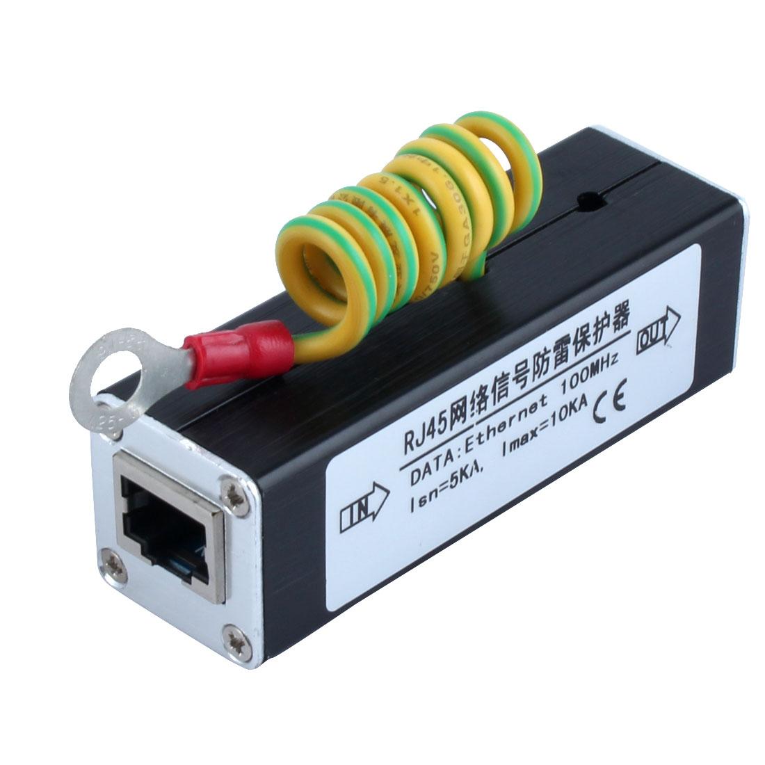 RJ45 Plug Ethernet Network Surge Protector Thunder Arrester 100MHz