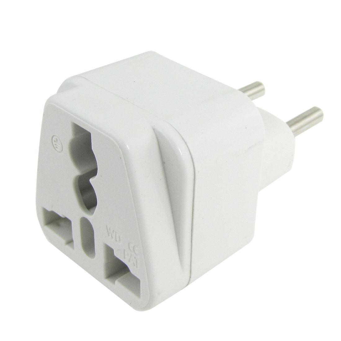 White Plastic Housing AC 10/16A 250V EU US UK Socket Italy Plug