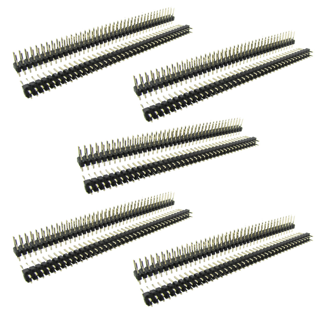 10 Pcs 2x40 Pin 2.54mm Pitch Double Row PCB Pin Headers