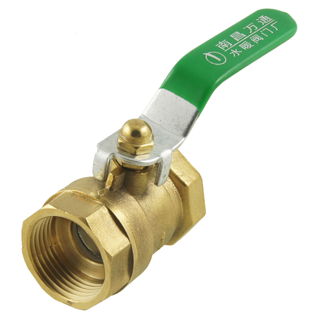 Dual Ports 30mm Female Threaded Full Bore Lever Handle Brass Ball Valve