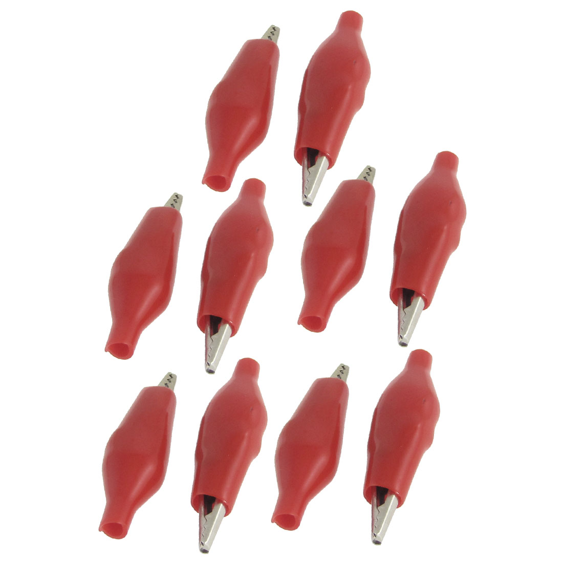 10 Pcs Red Boot 27mm Long Test Testing Probe Alligator Clips
