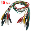 10Pcs Double-ended Test Leads Alligator Crocodile Roach Clip Jumper Wire 45cm