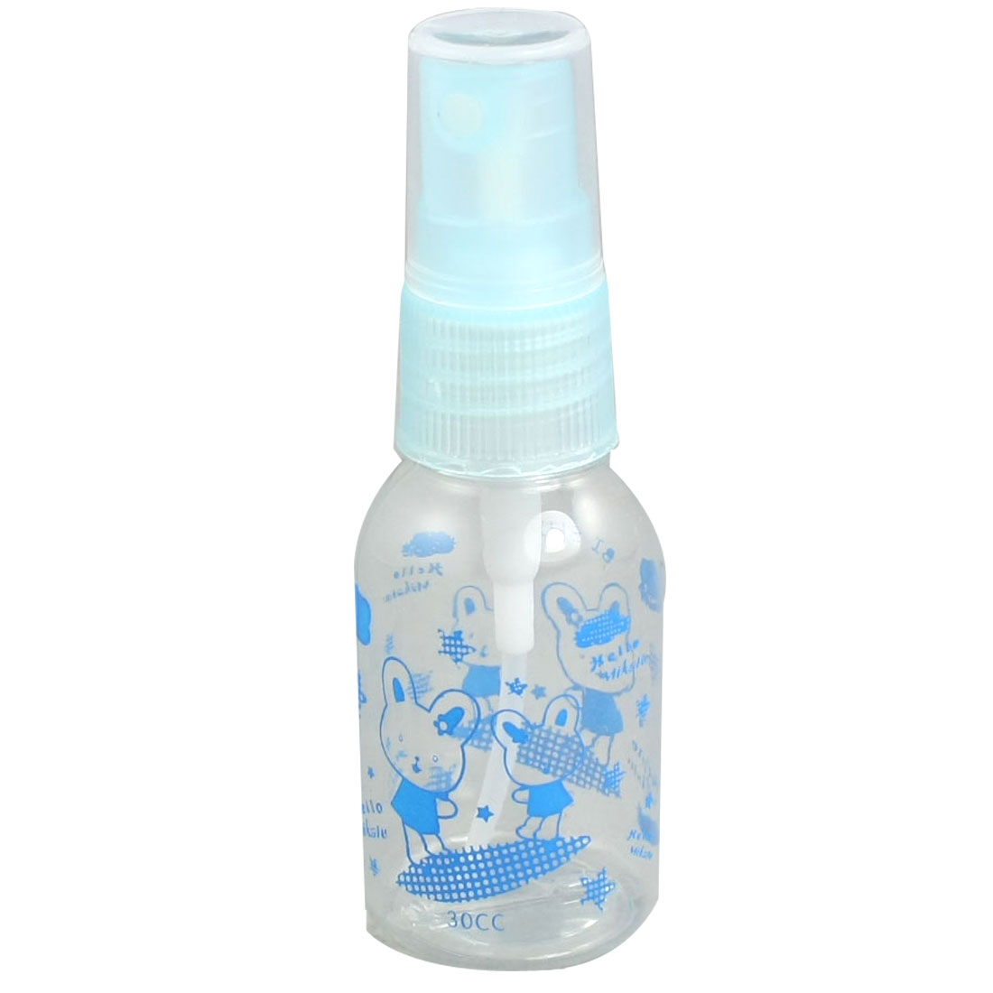 30ml Plastic Cosmetic Atomizer Blue Clear Water Spray Bottles 5 Pcs
