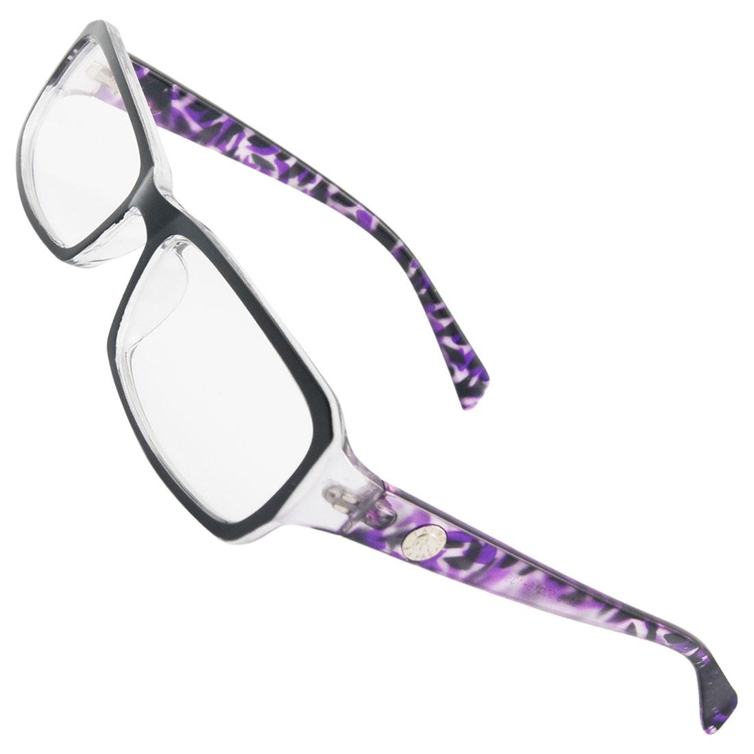 Lady Multi Coated Lens Black Purple Plastic Plain Glasses
