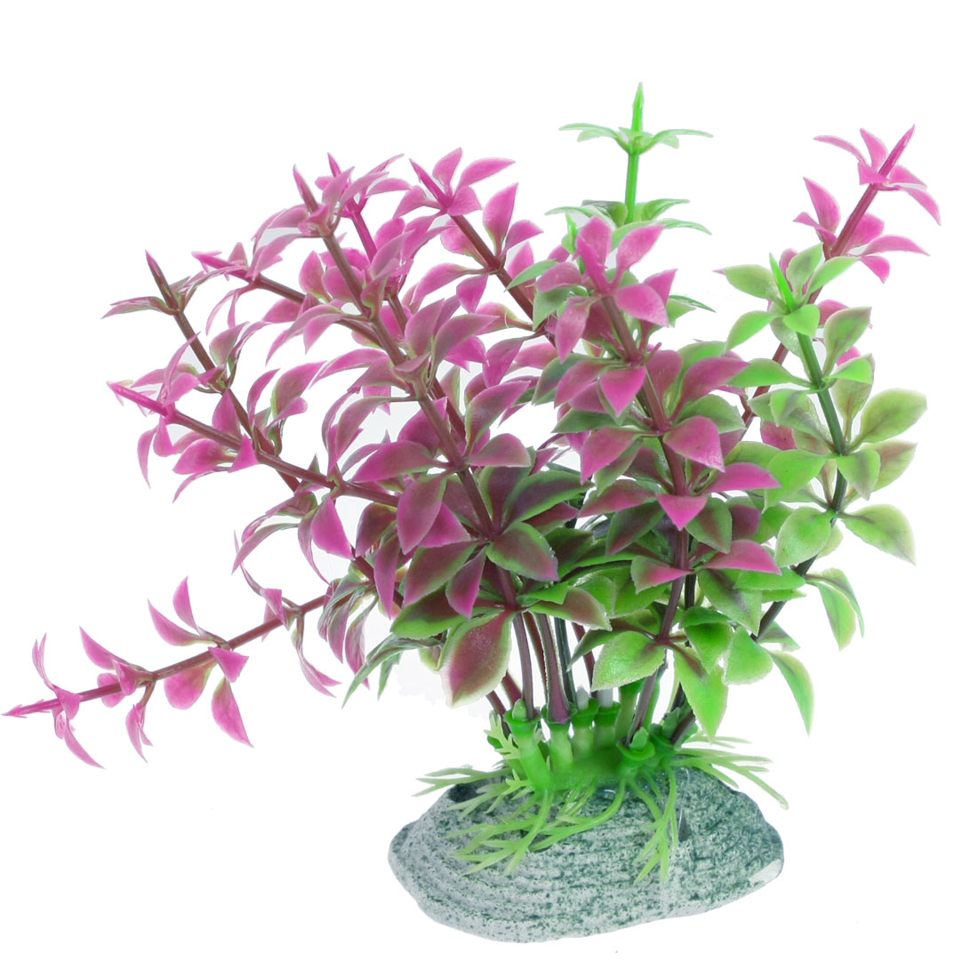 "4.9"" Green Fuchsia Plastic Emulation Plant Ornament for Fish Tank"