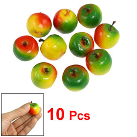 10 x Craft Colorful Artificial Apple Foam Decorative Fruits Decor