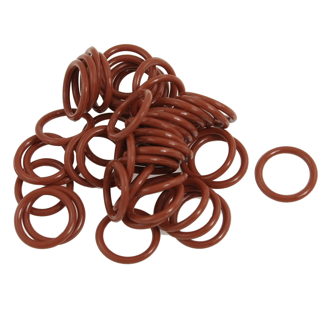 50 Pcs 16mm Outside Dia. 2mm Thickness Red Silicone O Ring Oil Seals